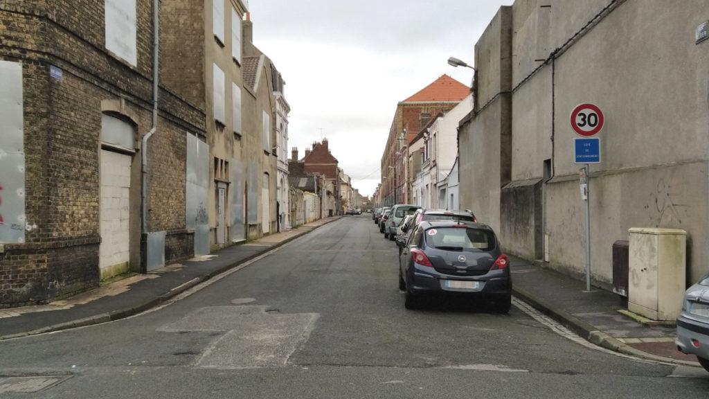 Rue Auber sans double sens cyclable (12 janvier 2021)