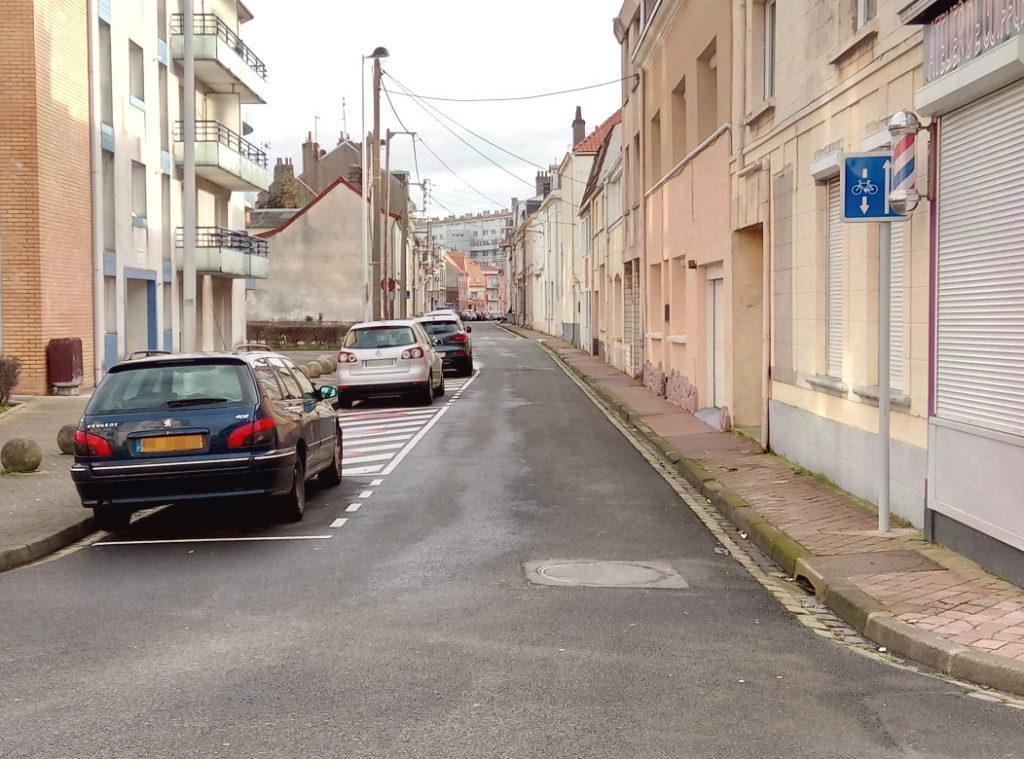 Double sens cyclable rue Neuve